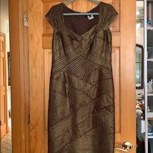 Tadashi Shoji XL Copper Cocktail Dress